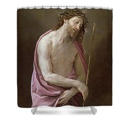 The Man Of Sorrows Shower Curtain by Guido Reni