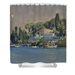 The Mansion House Paxos Shower Curtain