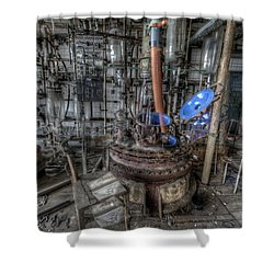 Shower Curtain featuring the digital art The Manual  by Nathan Wright