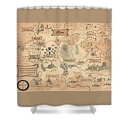 The Map Of The Enchanted Kira Shower Curtain