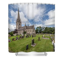 Shower Curtain featuring the photograph The Marble Church by Adrian Evans