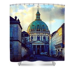 The Marble Church Copenhagen Shower Curtain