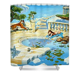 The Marble Ring Shower Curtain by Steve Read