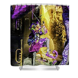 The Mardi Gras Jester Shower Curtain