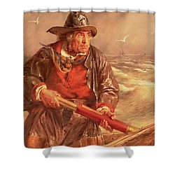 The Mariner Shower Curtain by Erskine Nicol