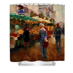 The Market Shower Curtain by David Patterson