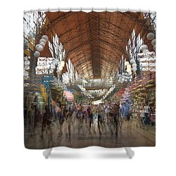 Shower Curtain featuring the photograph The Market Hall by Alex Lapidus