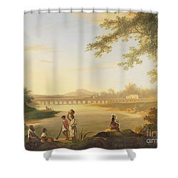 The Marmalong Bridge Shower Curtain by William Hodges