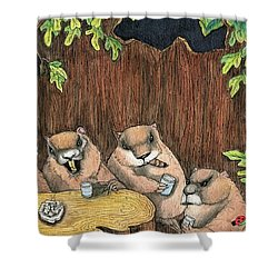 The Marmot Mafia Shower Curtain