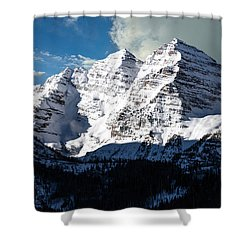 These Twin Peaks Outside Aspen Are Called The Maroon Bells  Shower Curtain