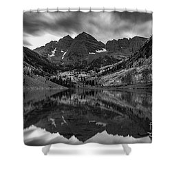 The Maroon Bells Shower Curtain