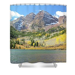 The Maroon Bells 2 Shower Curtain by Eric Glaser
