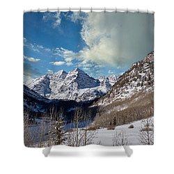 The Maroon Bells Twin Peaks Just Outside Aspen Shower Curtain