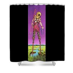 The Marsh Runner Shower Curtain