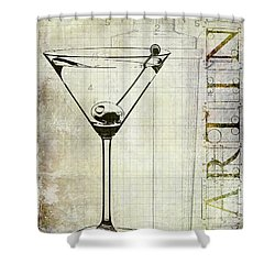 The Martini Shower Curtain by Jon Neidert
