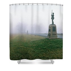 The Mascot Shower Curtain by Jan W Faul