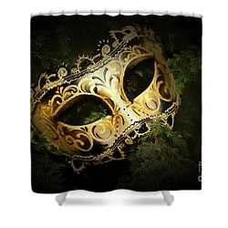 Shower Curtain featuring the photograph The Mask by Darren Fisher