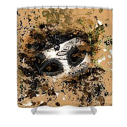 Shower Curtain featuring the photograph The Mask Of Fiction by LemonArt Photography