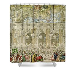 The Masked Ball At The Galerie Des Glaces Shower Curtain