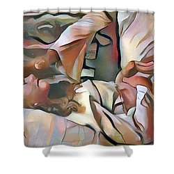 The Master's Hands - Healer Shower Curtain