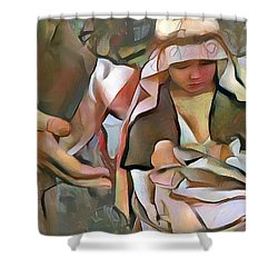The Master's Hands - Provider Shower Curtain