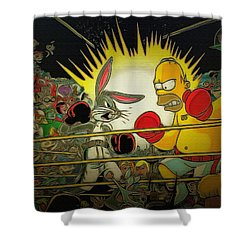 The Match Of The Century Shower Curtain