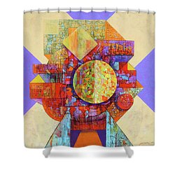 The Matrix Shower Curtain by J W Kelly