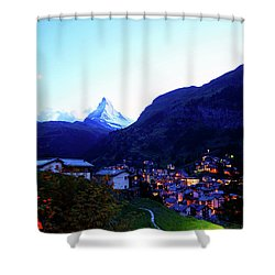 The Matterhorn In Dusk Shower Curtain