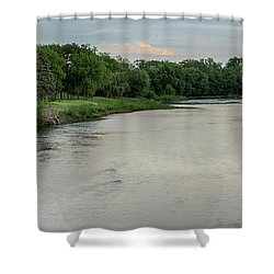 The Maumee River Shower Curtain