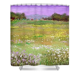 The Meadow Shower Curtain by David Patterson