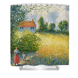 The Meadow Path  Shower Curtain by Richard Kretchmer