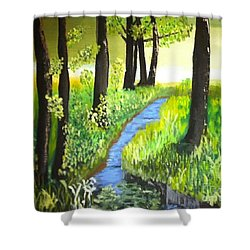 The Meadow Shower Curtain by Rod Jellison