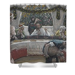 The Meal In The House Of The Pharisee Shower Curtain by Tissot