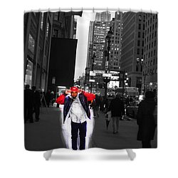 The Mean City Shower Curtain by Parker O'Donnell