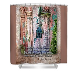 The Mediator Shower Curtain by Larry Bishop