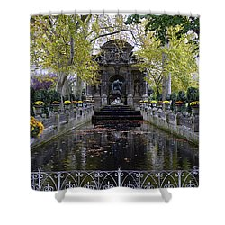 The Medici Fountain At The Jardin Du Luxembourg In Paris France. Shower Curtain