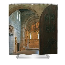 An Early Morning At The Medieval Abbey Shower Curtain