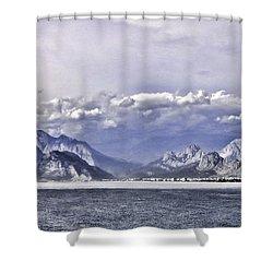 The Mediterranean Coast Shower Curtain