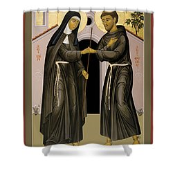 The Meeting Of Sts. Francis And Clare - Rlfac Shower Curtain