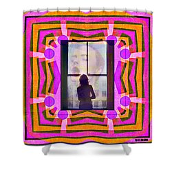 The Memory Of That Kiss Shower Curtain by Tony Adamo