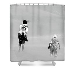 The Men Return Shower Curtain