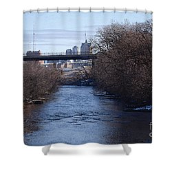 The Menomonee Near 33rd And Canal Streets Shower Curtain by David Blank
