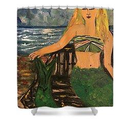 The Mermaid Of Kanaha Pond Shower Curtain