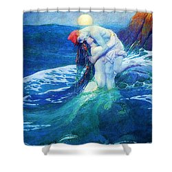 The Mermaid Shower Curtain by Pg Reproductions