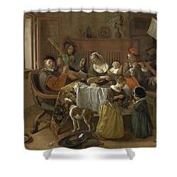 The Merry Family,1668 Shower Curtain