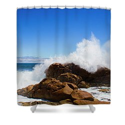 Shower Curtain featuring the photograph The Might Of The Ocean by Jorgo Photography - Wall Art Gallery