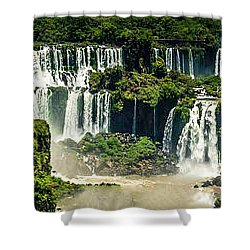 The Mighty Iguazu  Shower Curtain by Andrew Matwijec