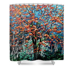 The Mighty Immortelle Shower Curtain by Karin  Dawn Kelshall- Best