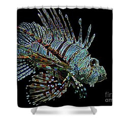 The Mighty Lion Fish Shower Curtain by Carol F Austin
