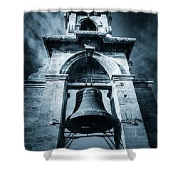 The Miguelete Bell Tower Valencia Spain Shower Curtain